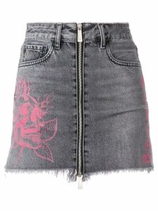 Marcelo Burlon County Of Milan short denim skirt - Black