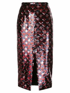 Rochas sequin midi skirt - Black