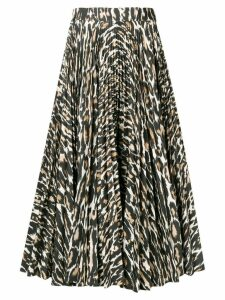 Calvin Klein 205W39nyc flared leopard print skirt - Brown