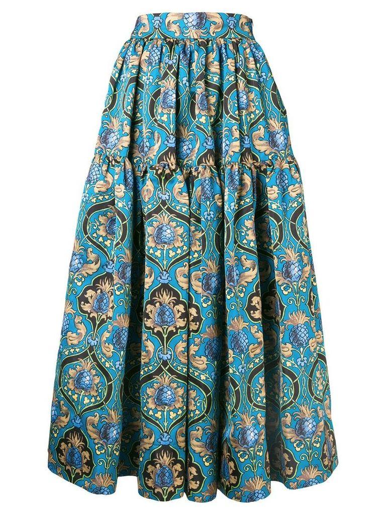 La Doublej printed radzmir skirt - Blue