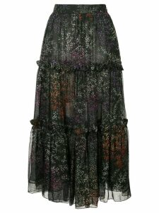 Co floral tiered full skirt - Multicolour