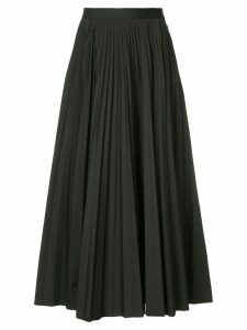 Maison Margiela pleated flared skirt - Black
