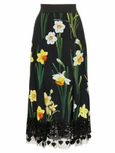Dolce & Gabbana Printed Cady skirt - Black