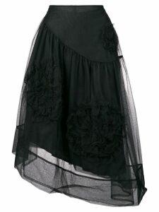 Simone Rocha ruched flower skirt - Black