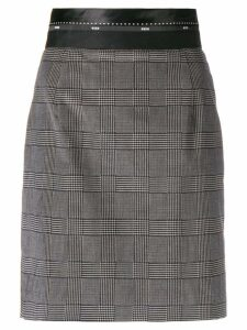 MSGM tartan fitted skirt - Grey