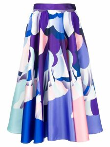 Emilio Pucci printed midi skirt - Blue