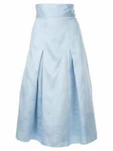 Bambah Georgia pleated midi skirt - Blue