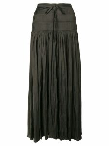 Ulla Johnson high waisted pleated skirt - Green