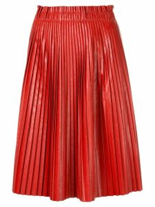 We11done pleated skirt - Red