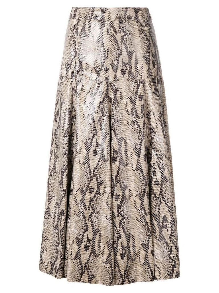 MSGM snakeskin effect skirt - Neutrals