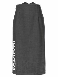 Off-White slogan midi skirt - Grey