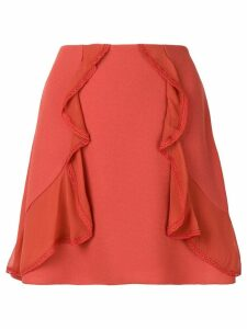 See By Chloé ruffle-trim skirt - Yellow