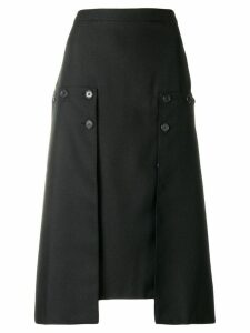 Rokh pleated panel skirt - Black