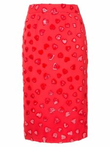 We11done heart textured pencil skirt