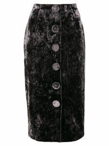 Vivetta velvet pencil skirt - Grey
