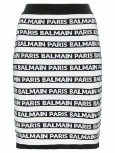 Balmain knit logo stripe skirt - Black