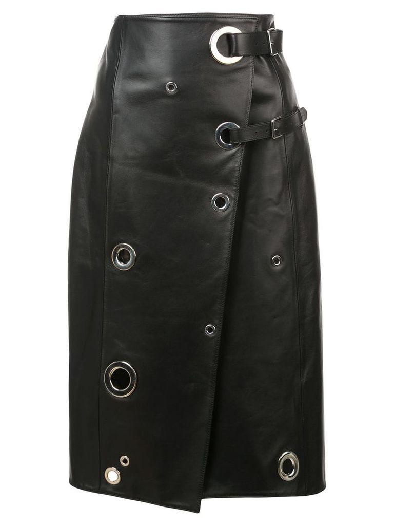 Altuzarra rivet wrap skirt - Black