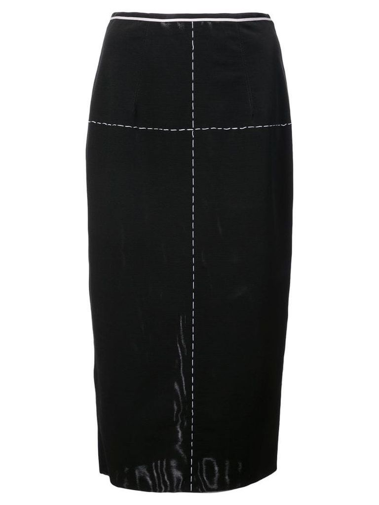 Vera Wang stitching detail pencil skirt - Black