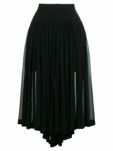 Stella McCartney asymmetric pleated skirt - Black