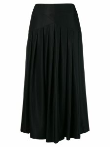 Sara Lanzi pleated midi skirt - Black