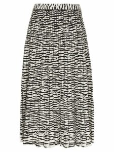 Proenza Schouler tiger print pleated skirt - Black
