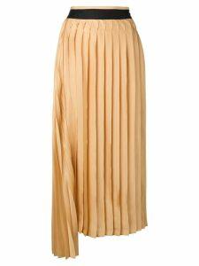 Victoria Victoria Beckham pleated midi skirt - Yellow