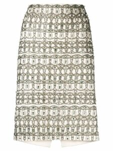 Moschino embellished skirt - White