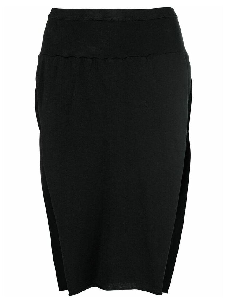 Rick Owens DRKSHDW side slits skirt - Black