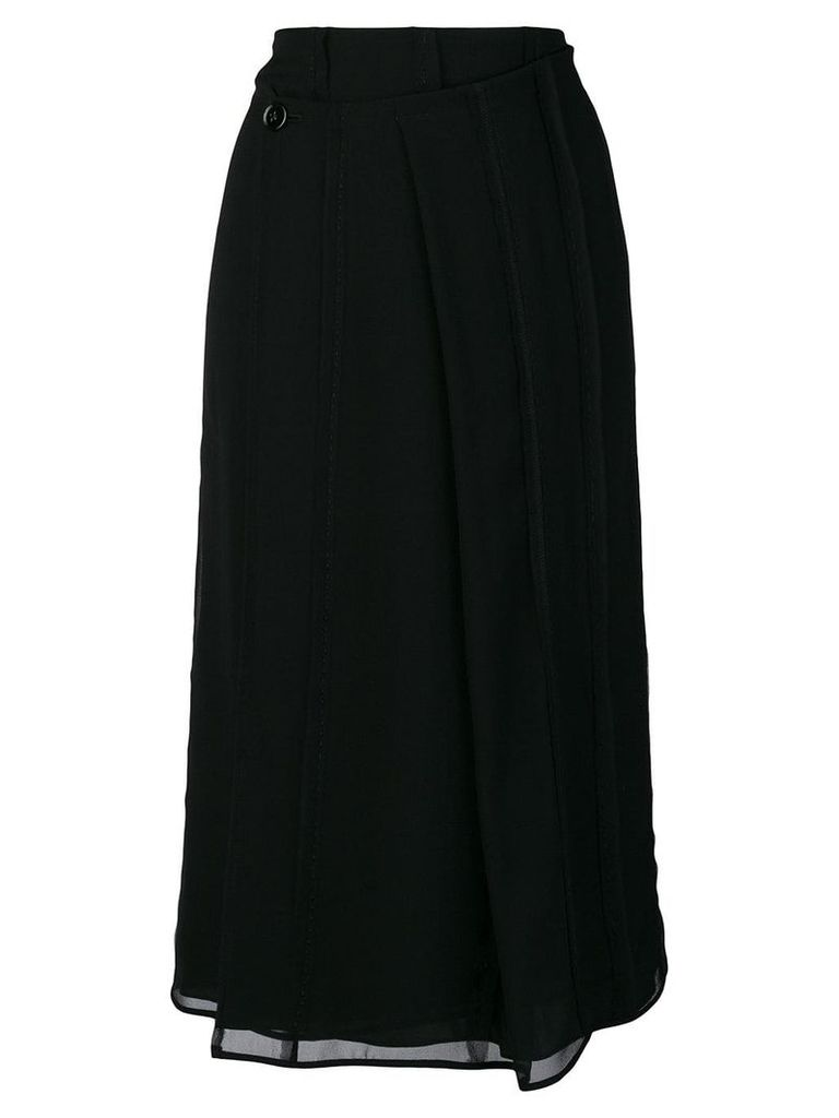 Carven pleated wrap skirt - Black