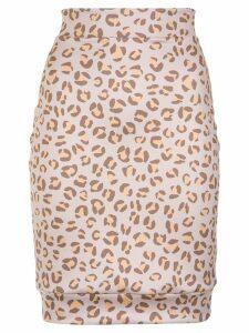 Amir Slama leopard print skirt - Neutrals