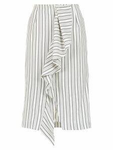 Tufi Duek striped midi skirt - White