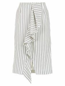 Tufi Duek striped midi skirt - White