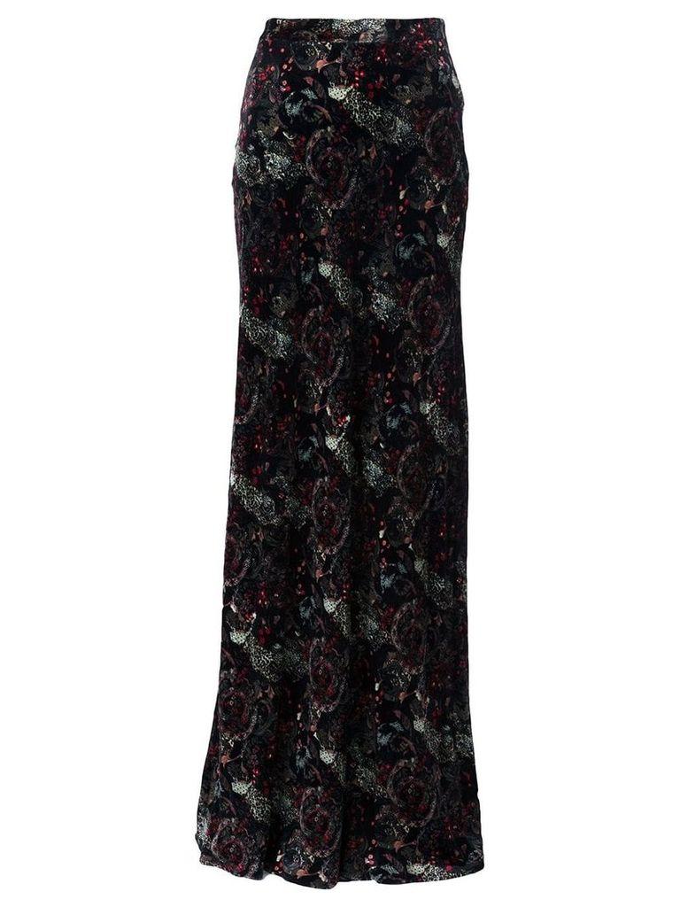 Roberto Cavalli paisley print skirt - Black