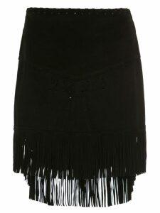 Andrea Bogosian suede fringed skirt - Black