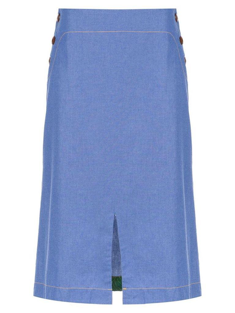 Isolda Bacuri jeans skirt - Blue