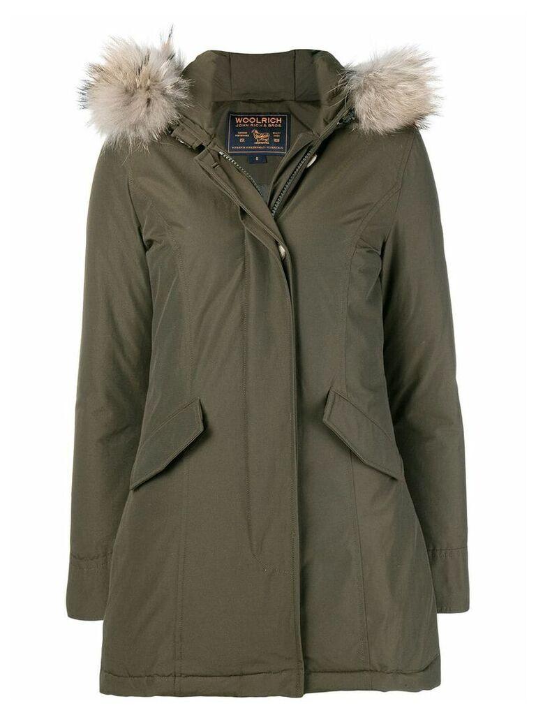 Woolrich fur trimmed parka coat - Green