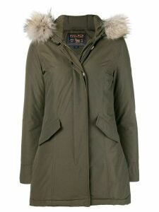 Woolrich fur trimmed parka coat - Green