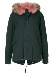 Mr & Mrs Italy fur hooded coat - Blue