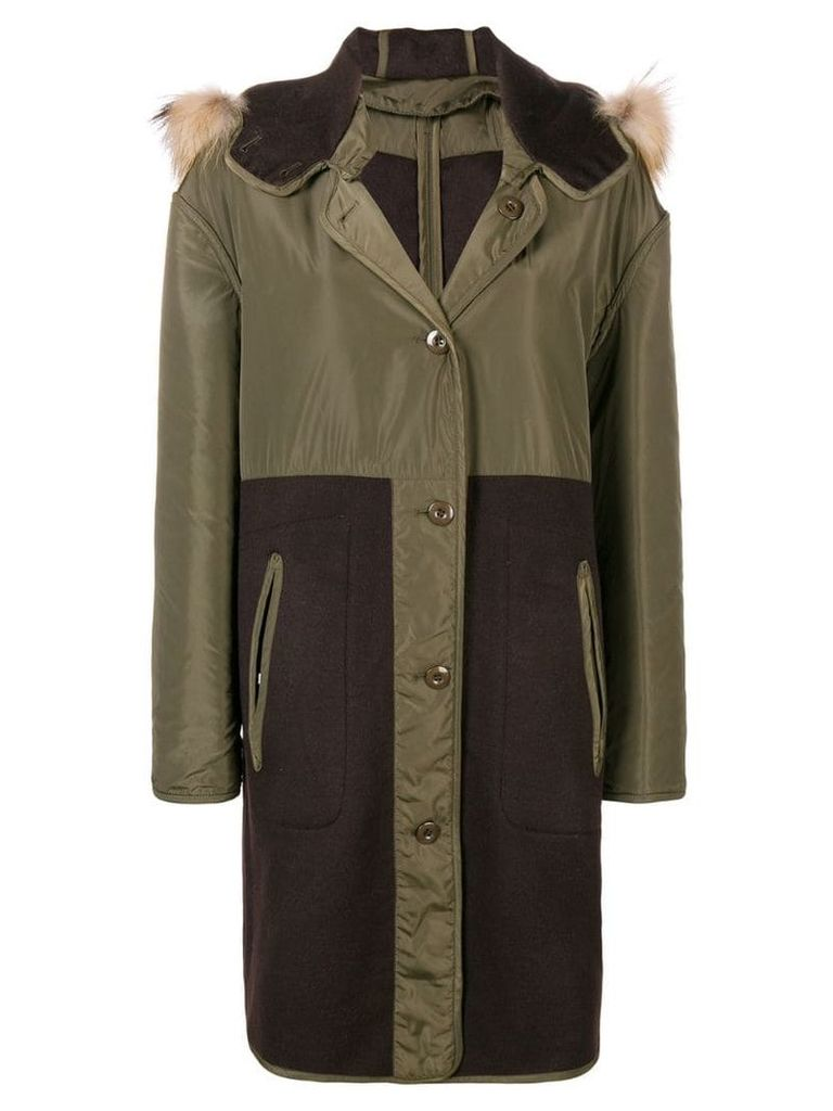 P.A.R.O.S.H. hooded parka coat - Green
