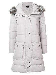 Emporio Armani hooded parka coat - Grey