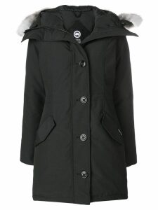 Canada Goose Rossclair fur trimmed-hood coat - Black