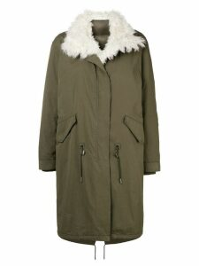 Yves Salomon Army padded military parka - Green