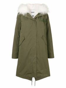 Yves Salomon Army long parka - Green