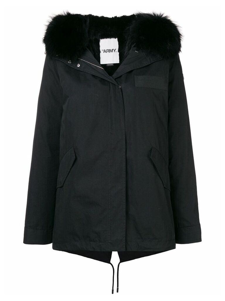 Yves Salomon Army short parka - Black