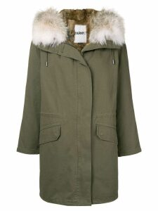 Yves Salomon Army oversized parka - Green