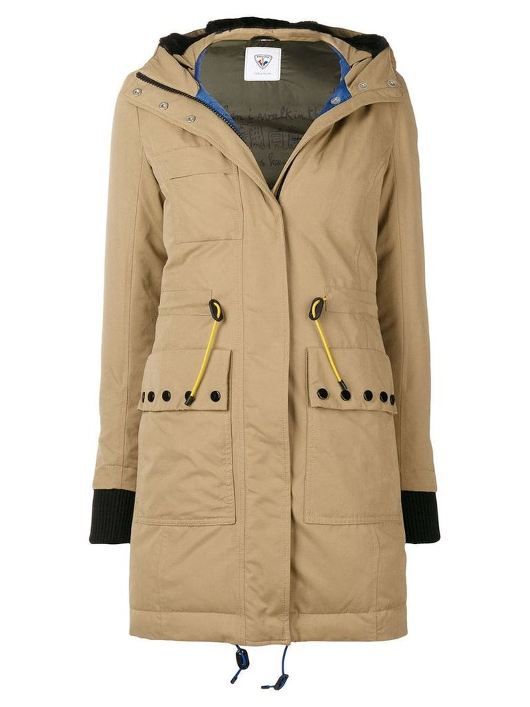 Rossignol hooded parka coat - Brown