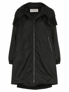 Valentino VLTN logo hooded coat - Black