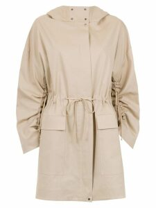 Gloria Coelho hooded coat - Neutrals