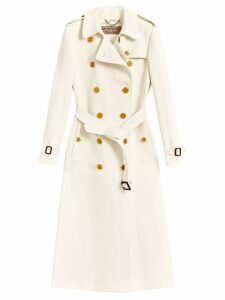 Burberry double breasted trench coat - White