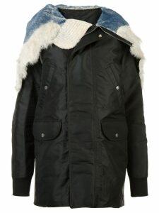 Rick Owens hooded raincoat - Black